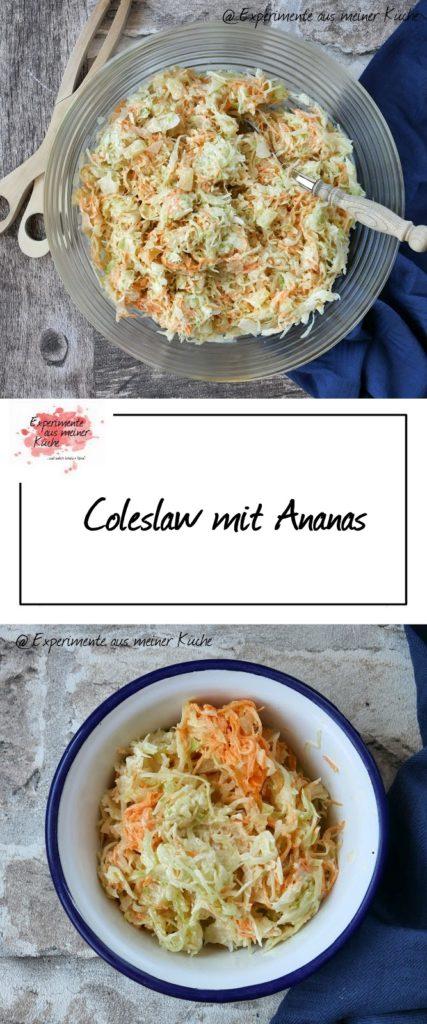 Coleslaw mit Ananas | Rezept | Essen | Salat | Grillen | Grillbeilage | Bosch MUM 5
