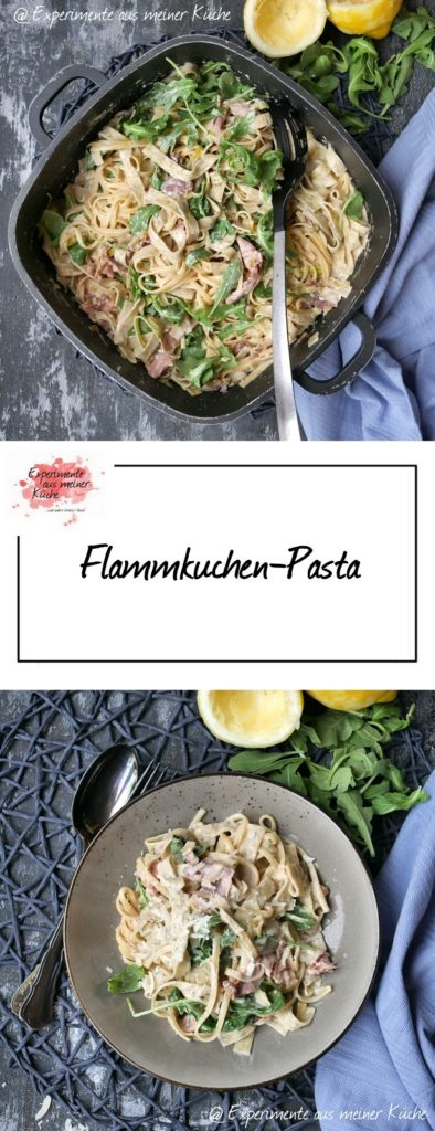 Flammkuchen-Pasta | Rezept | Essen | Kochen | Nudeln | Weight Watchers
