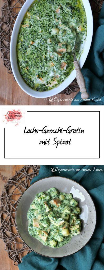 Lachs-Gnocchi-Spinat-Gratin | Rezept | Essen | Kochen | Auflauf | Weight Watchers
