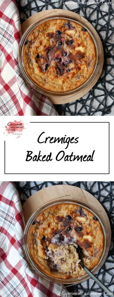 Cremiges Baked Oatmeal   Rezept   Frühstück   Haferflocken   Essen   Weight Watchers