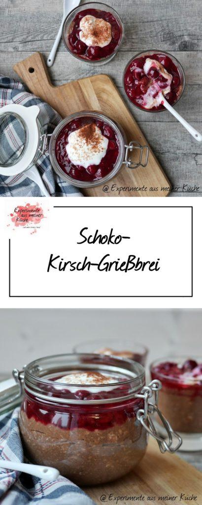 Schoko-Kirsch-Grießbrei | Rezept | Essen | Kochen | Dessert | Frühstück | Weight Watchers