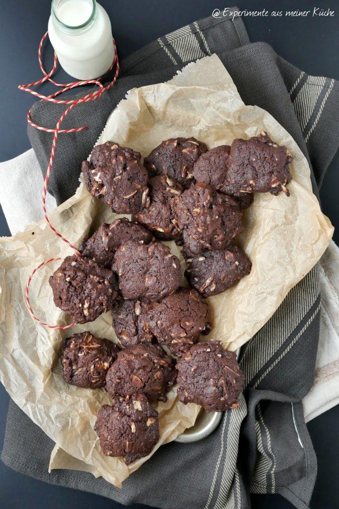 Schoko-Mandel-Cookies | Rezept | Kekse | Backen | Schokolade
