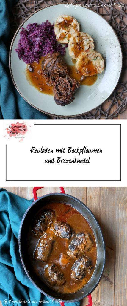 Rouladen mit Backpflaumen und Brezenknödel | Rezept | Kochen | Essen | Herzhaft | Hausmannskost