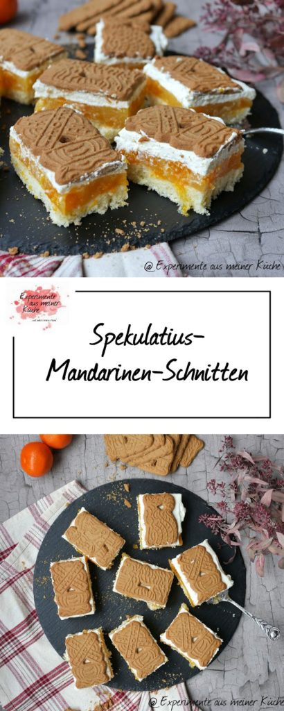Spekulatius-Mandarinen-Schnitten | Rezept | Backen | Weihnachten | Kuchen
