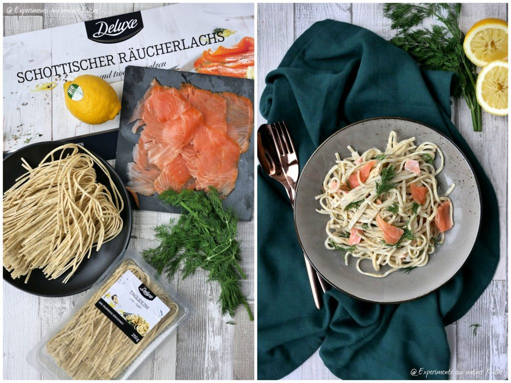 Schnelles 3-Gänge-Deluxe-Menü | Trüffelpasta in cremiger Lachssoße | Rezept | Kochen | Essen | Weihnachten