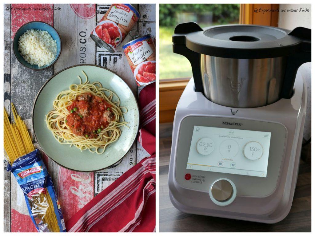 Spaghetti mit Hackfleischbällchen | Rezept | Monsieur Cuisine | Kochen | Essen