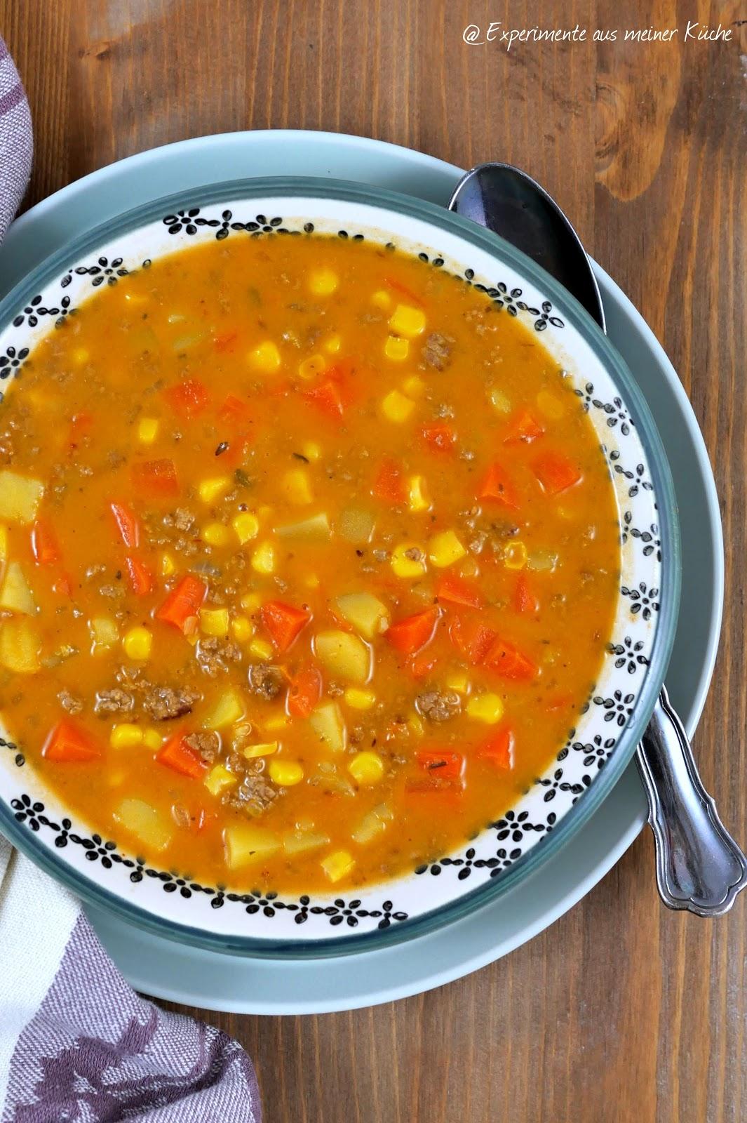 Gemüse-Hack-Suppe - Experimente aus meiner Küche
