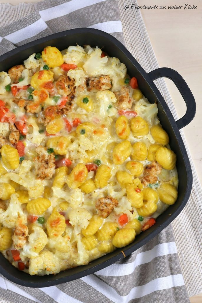 Gnocci-Gemüse-Auflauf mit Hähnchen | Rezept | Essen | Kochen | Weight Watchers