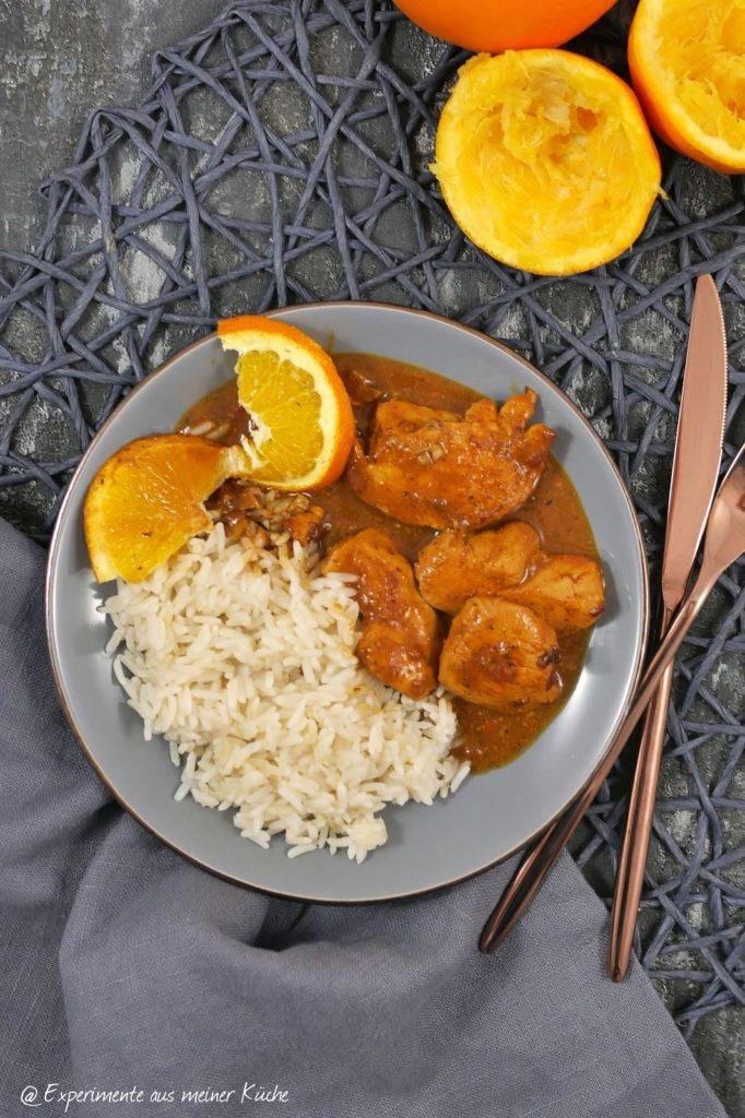Hähnchen in Orangen-Walnuss-Soße | Rezept | Kochen |  Essen | Weight Watchers