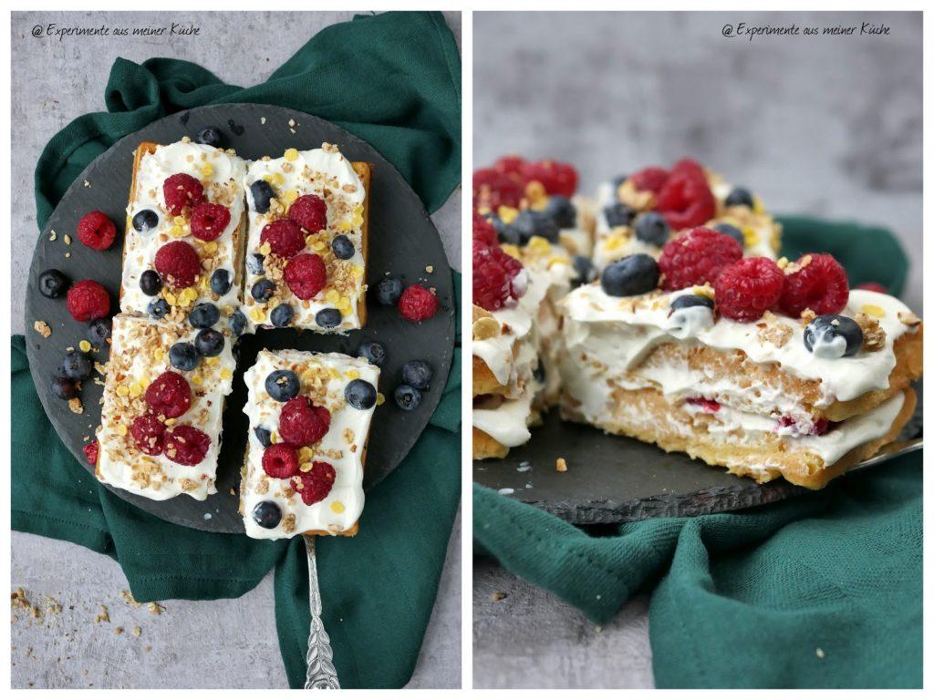 Schnelle Waffeltorte | Rezept | Backen | Essen | Kuchen ohne Backen | Dessert