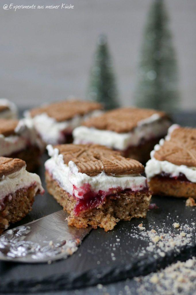 Preiselbeer-Spekulatius-Nusskuchen | Backen | Rezept | Kuchen | Weihnachten