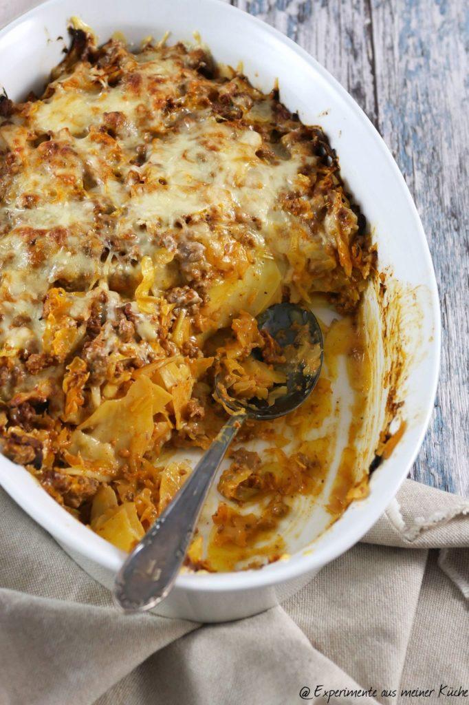 Spitzkohl-Hack-Auflauf mit Kartoffeln | Rezept | Kochen | Essen | Weight Watchers