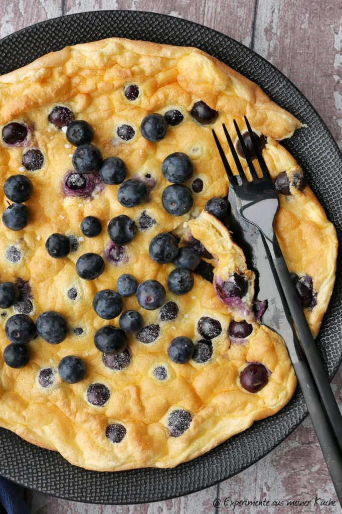 Blaubeer-Omelett | Rezept | Kochen | Essen | Frühstück | Eierspeise | Weight Watchers