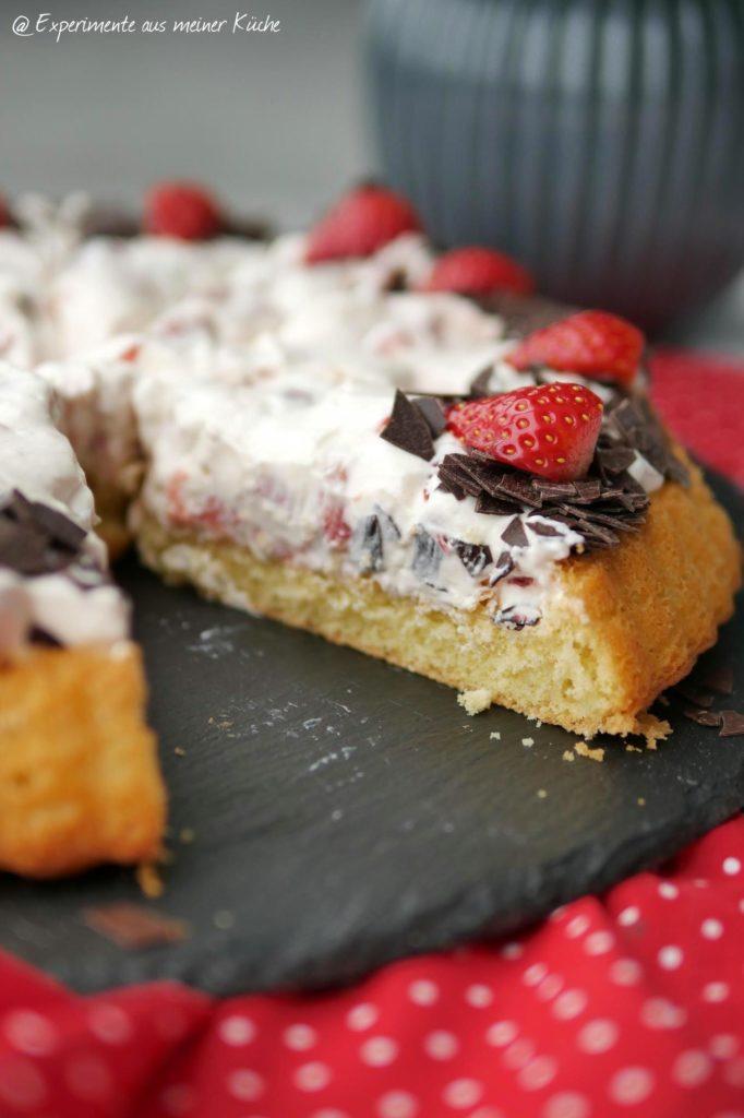 Schnelle Erdbeertorte | Backen | Kuchen | Torte | Rezept