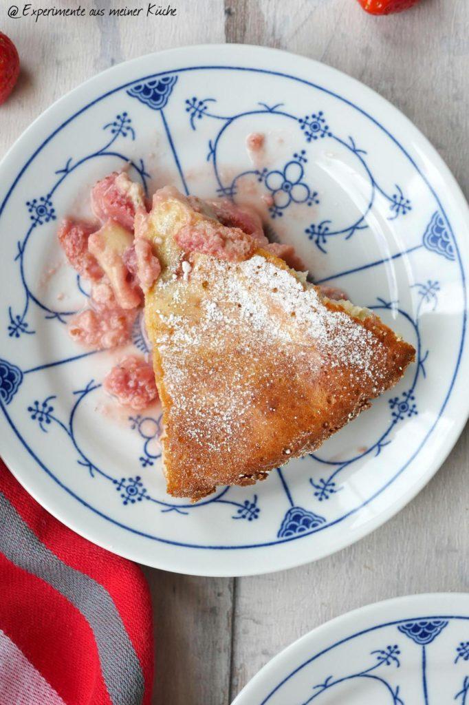 Erdbeer-Quark-Clafoutis | Rezept | Backen | Kuchen | Dessert | Auflauf | Weight Watchers