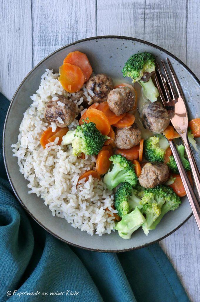 Hackbällchen-Gemüse-Pfanne | Rezpet | Essen | Kochen | Weight Watchers