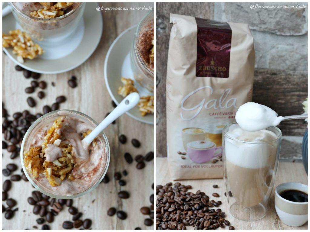 Espressocreme mit karamellisierten Mandeln | Dessert | Essen | Rezept | Nachtisch