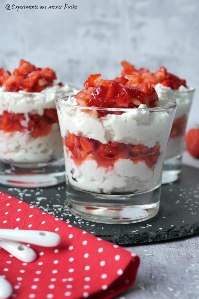 Raffaello-Erdbeer-Quark | Rezept | Essen | Dessert | Nachtisch | Weight Watchers
