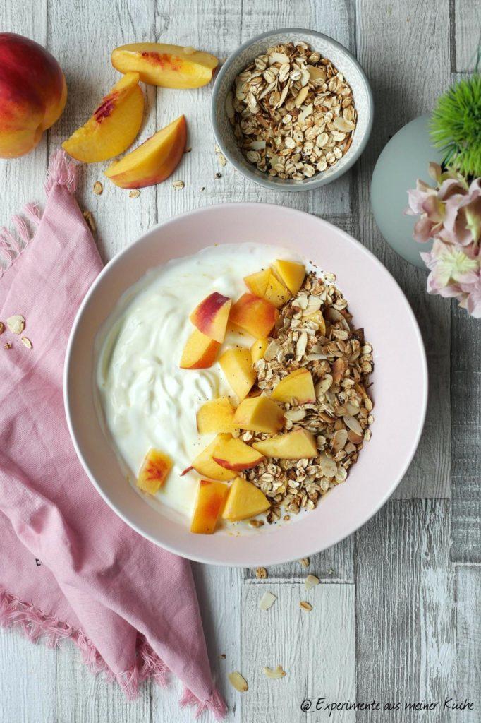 Granola - schnell & zuckerfrei | Rezept | Frühstück | Knuspermüsli | Weight Watchers