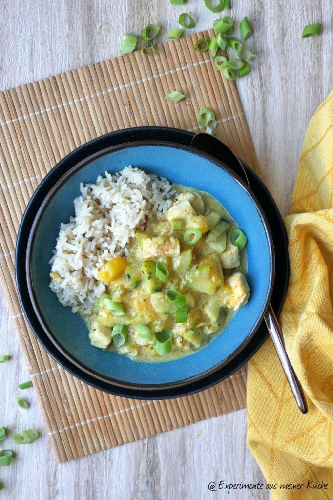 Kokos-Mango-Hähnchen | Rezept | Kochen | Essen | Weight Watchers | Reis