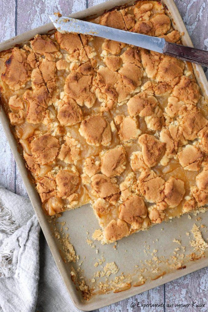 Apfelmus-Streusel-Kuchen | Backen | Kuchen | Blechkuchen | Rezept