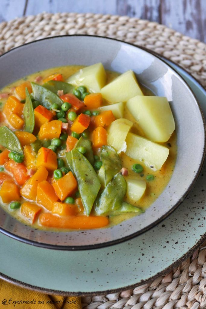 Kürbis-Zuckerschoten-Curry