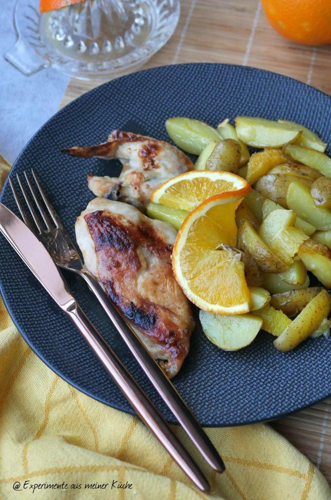 Orangenhähnchen | Rezept | Essen | Kochen | Kartoffeln