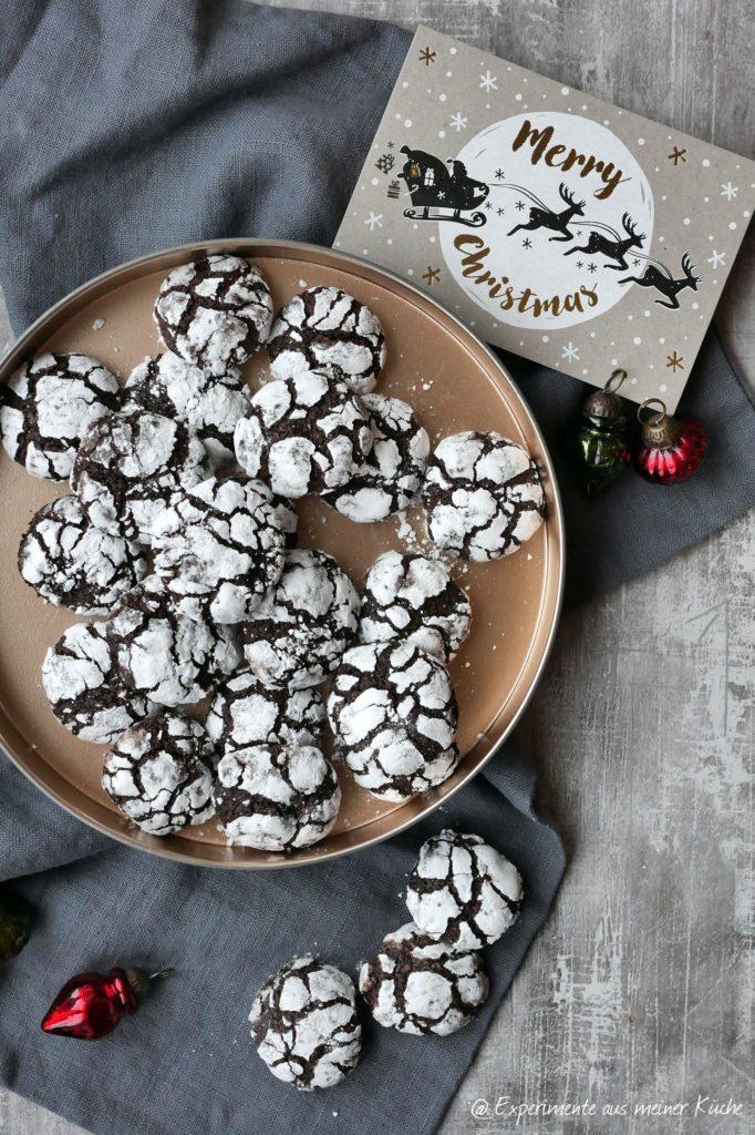 Schoko-Lebkuchen-Crinkle | Backen | Kekse | Plätzchen | Rezept | Weihnachten