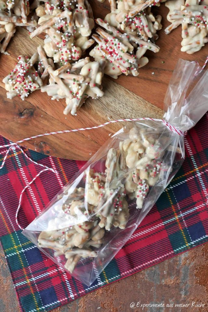 White Christmas Haystacks | Rezept | Kekse | No Bake | Weihnachten