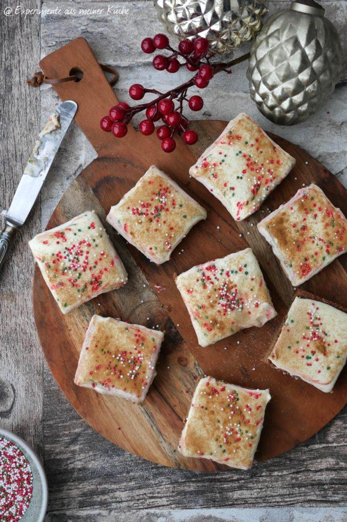 Spekulatius-Blechkuchen mit Zimtfrosting | Rezept | Kuchen | Backen | Weihnachten