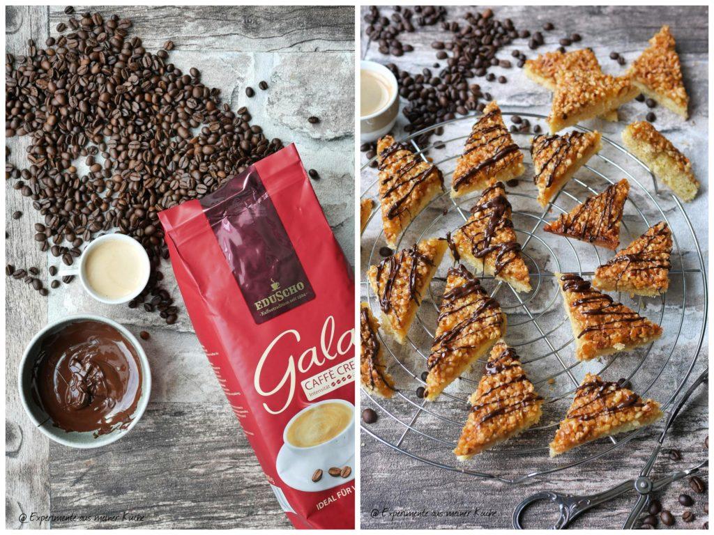 Nussecken mit Kaffee | Backen | Kuchen | Rezept