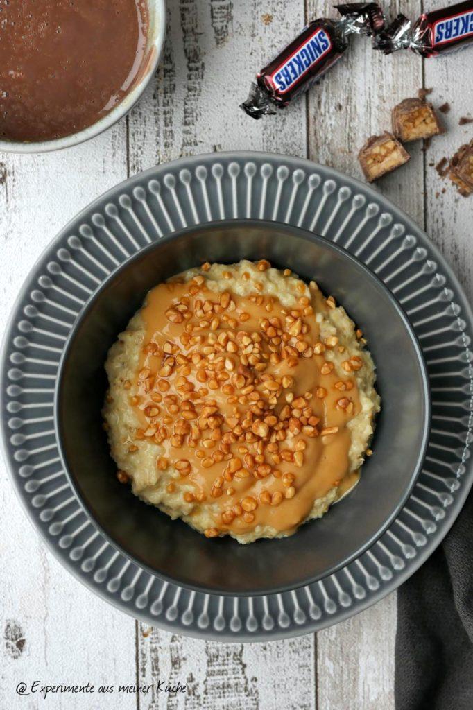 Snickers Porridge | Essen | Kochen | Frühstück | Weight Watchers | Rezept