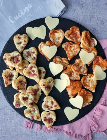 Blätterteigherzen | Rezept | Essen | Valentinstag | Fingerfood | Snack