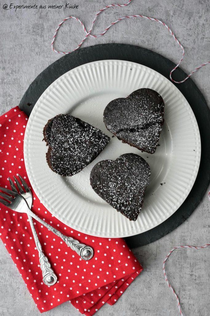 Brownieherzen | Rezept | Essen | Valentinstag | Backen | Kuchen | Weight Watchers