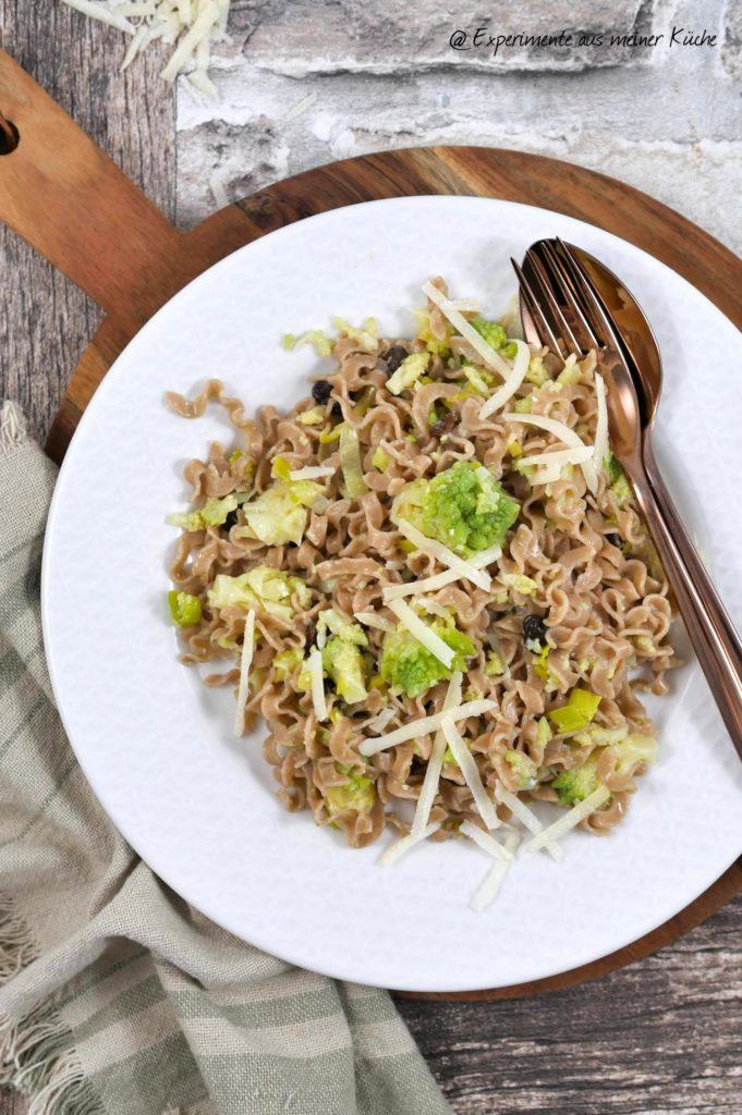 Romanesco-Pasta mit Rosinen | Rezept | Kochen | Essen | Weight Watchers