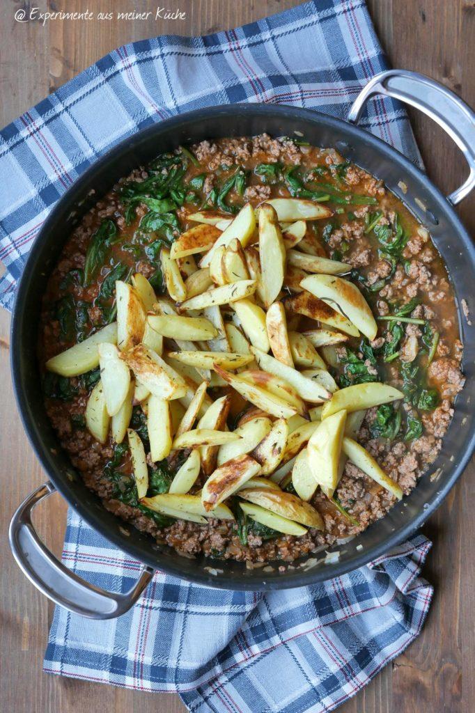 Griechische Hack-Kartoffel-Pfanne | Rezept | Kochen | Essen | Weight Watchers