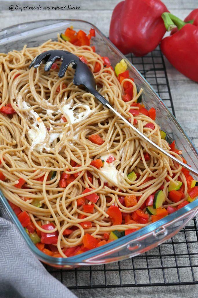 Paprika-Pasta mit Burrata | Rezept | Kochen | Essen | vegetarisch | Weight Watchers