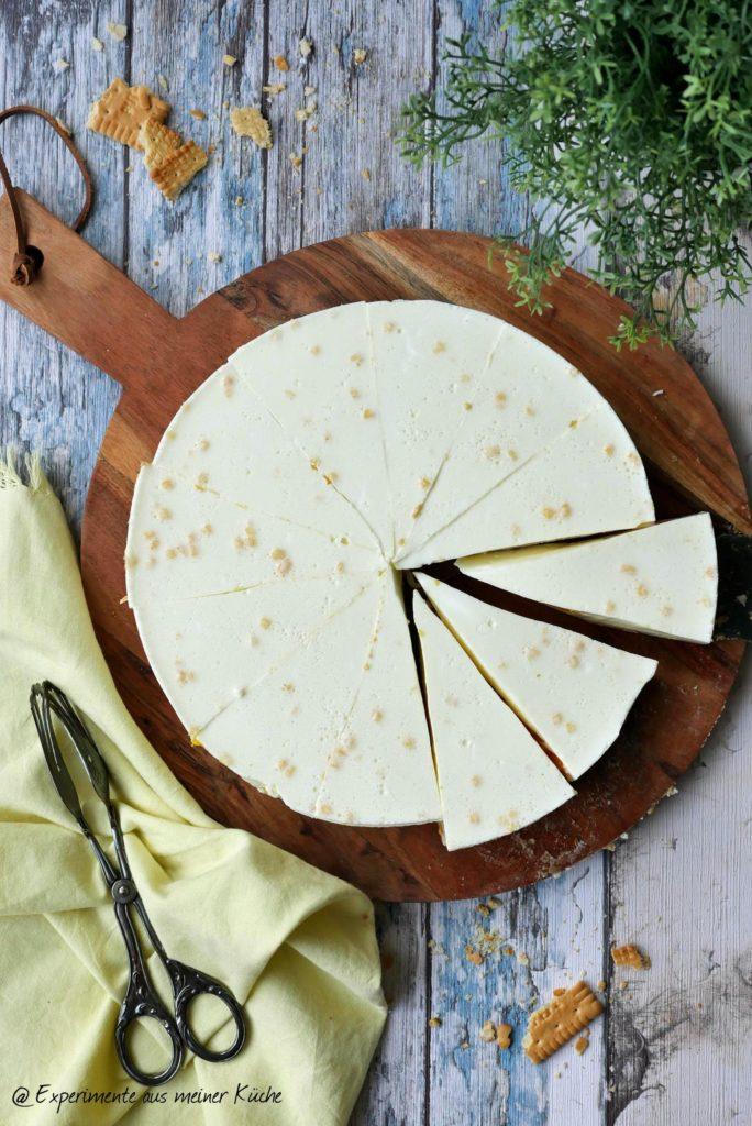 Zitronentorte mit Mandarinen | Rezept | Backen | Kuchen | No Bake Torte | Weight Watchers
