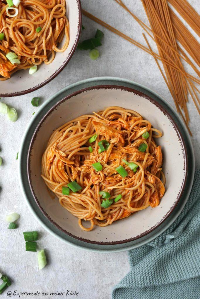 Pulled Chicken Pasta | Rezept | Essen | Kochen | Weight Watchers | Nudeln