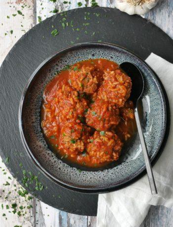 Hack-Reis-Bällchen | Essen | Kochen | Rezept | Weight Watchers | One Pot