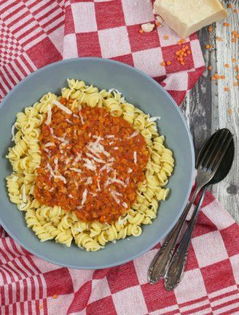 Linsenbolognese | Rezept | Essen | Kochen | Vegetarisch | Pasta | Weight Watchers