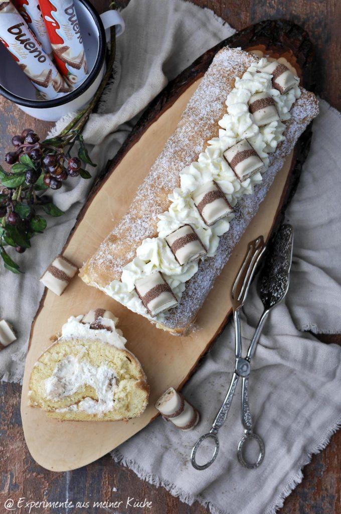 kinder bueno Biskuitrolle   Backen   Kuchen   Torte