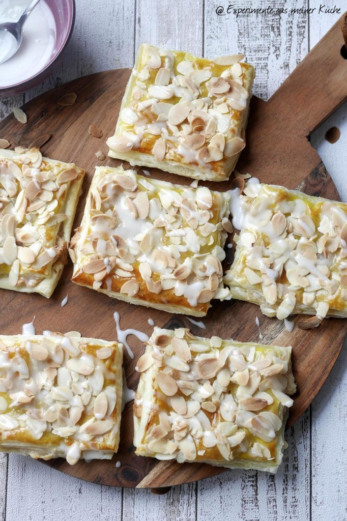 Blätterteig-Marzipan-Taschen   Rezept   Backen   Gebäck   Schnell