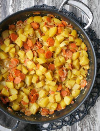Kartoffel-Möhren-Pfanne | Rezept | Essen | Kochen | Weight Watchers