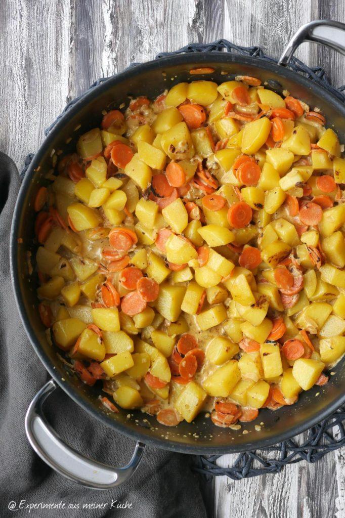 Kartoffel-Möhren-Pfanne   Rezept   Essen   Kochen   Weight Watchers